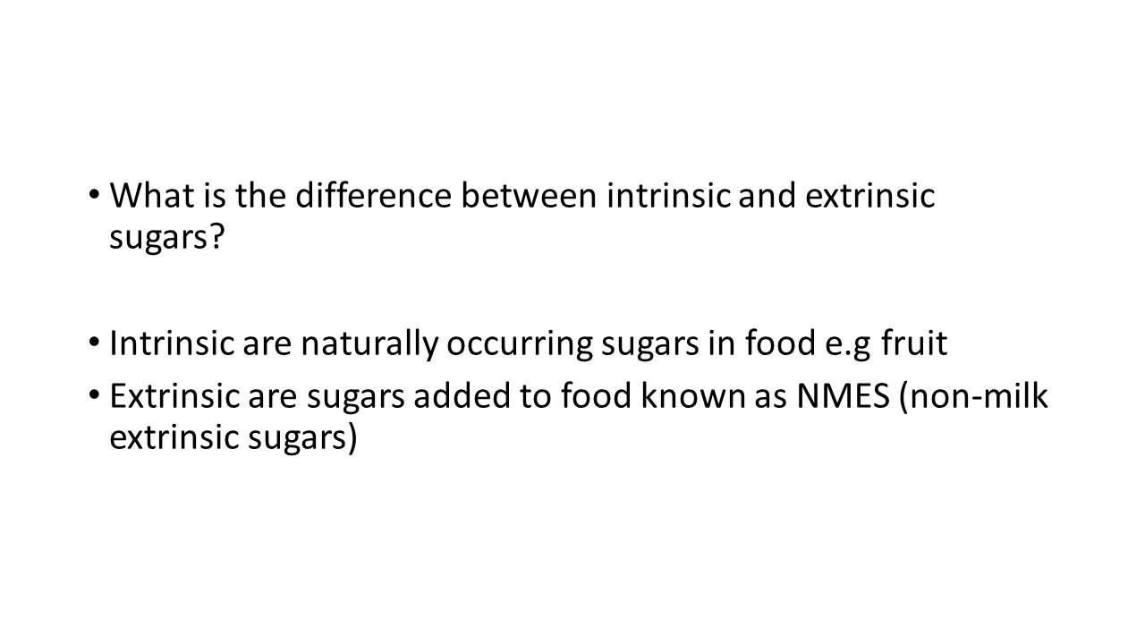What is the difference between intrinsic and extrinsic sugars