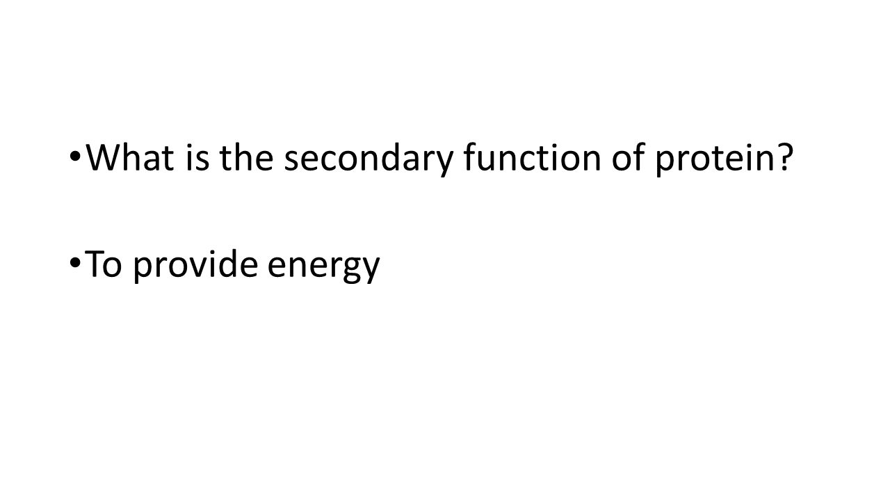 What is the secondary function of protein