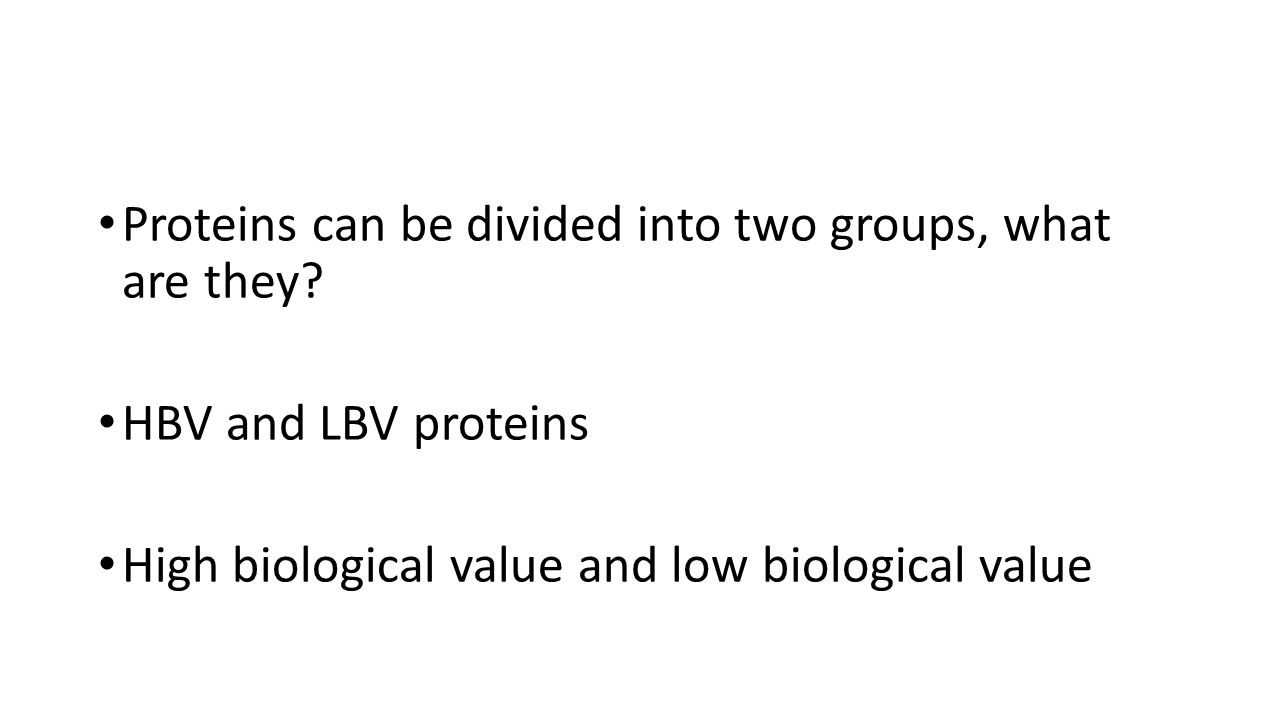 Proteins can be divided into two groups, what are they