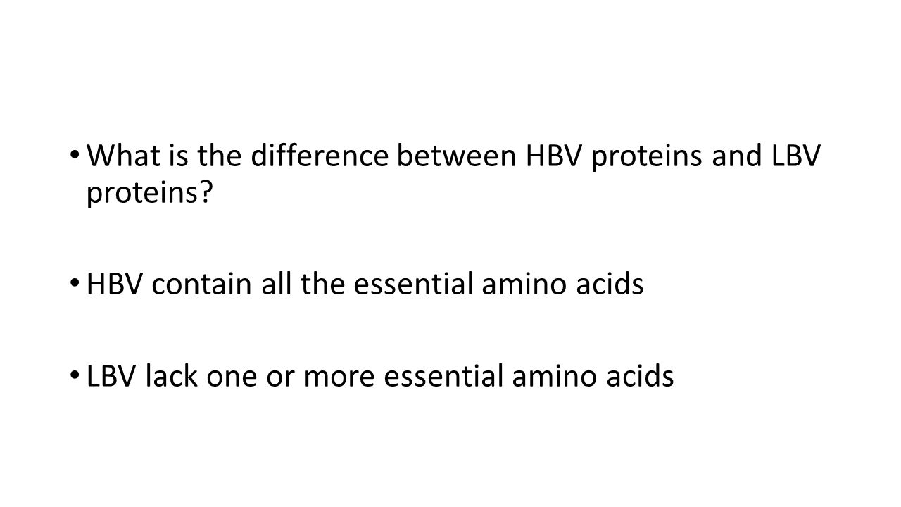 What is the difference between HBV proteins and LBV proteins