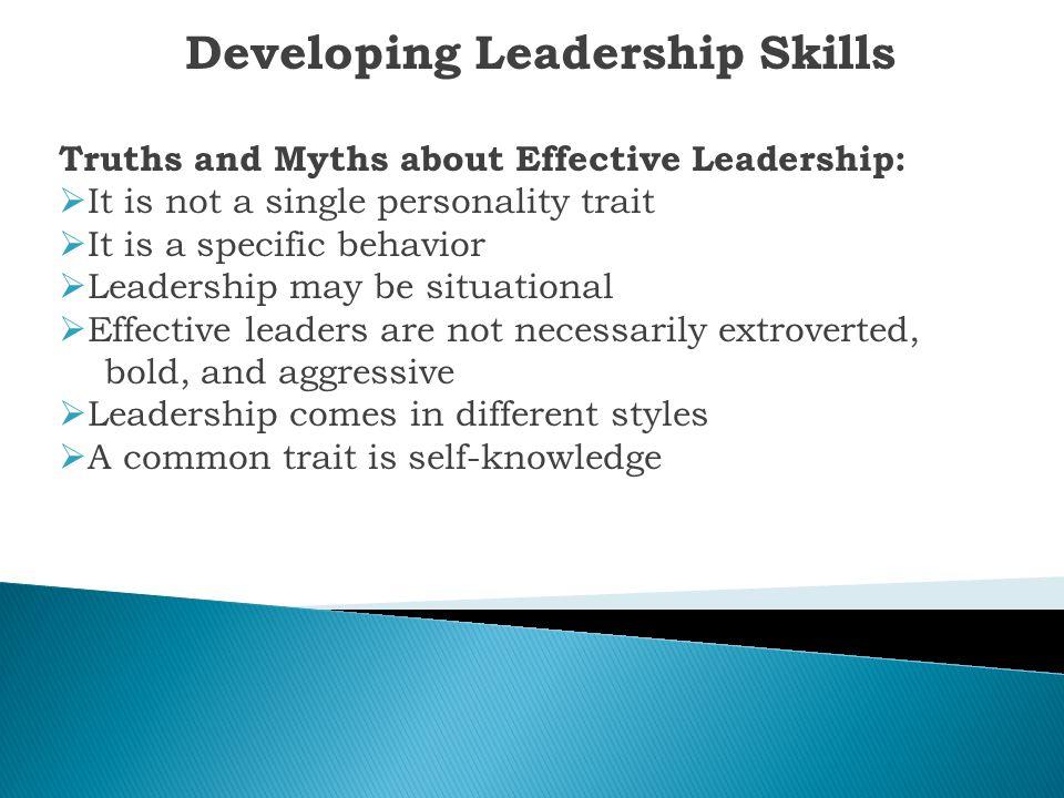 Developing Leadership Skills