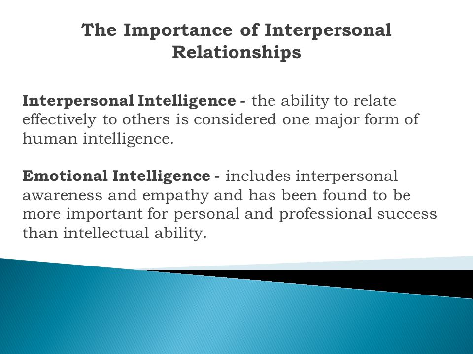 The Importance of Interpersonal Relationships