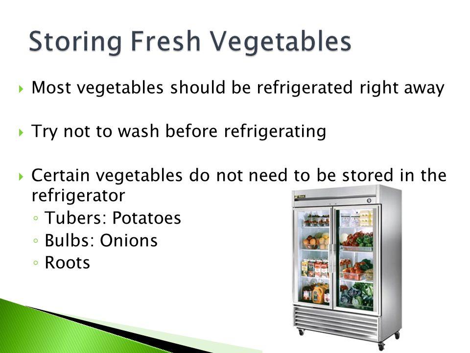 Storing Fresh Vegetables