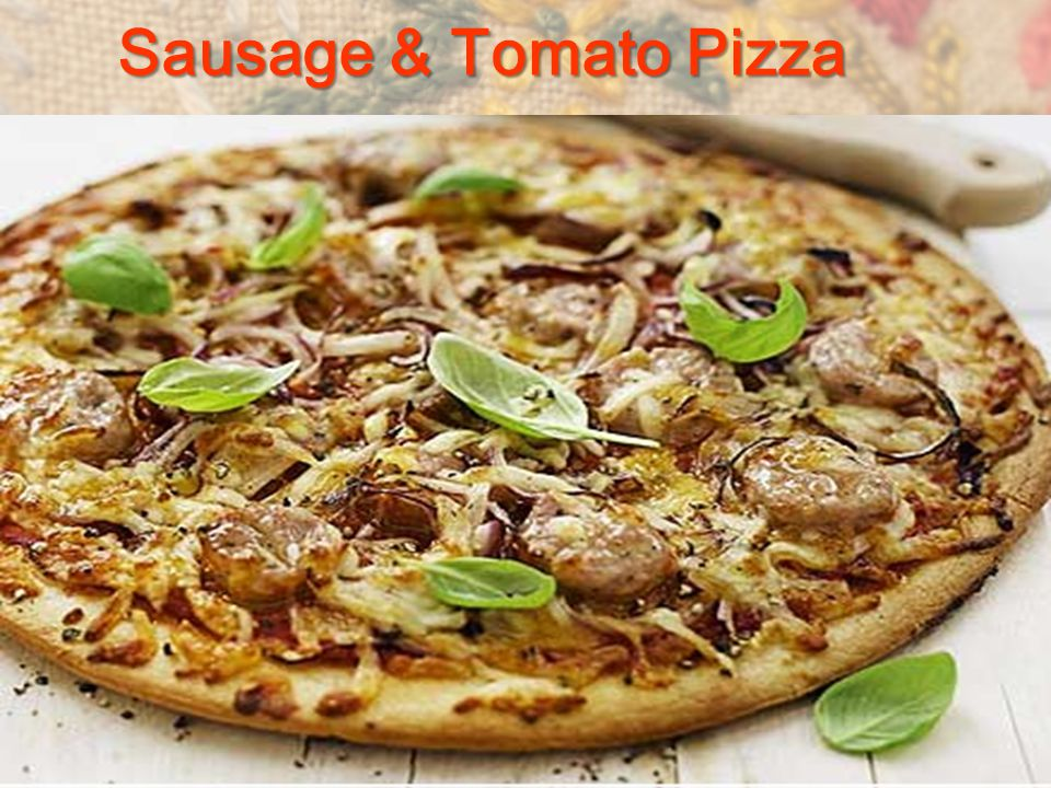 Sausage & Tomato Pizza