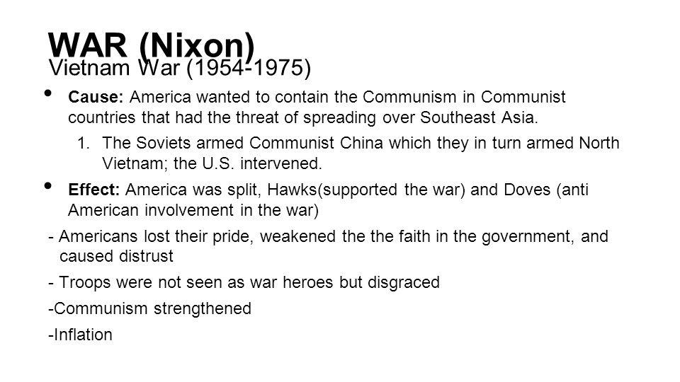 WAR (Nixon) Vietnam War (1954-1975)