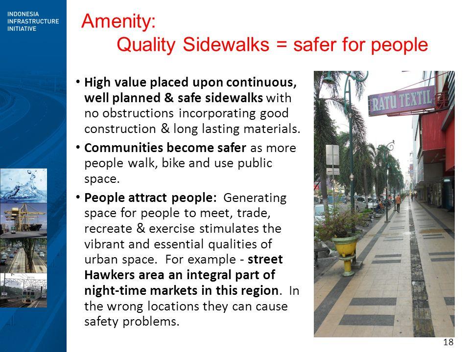 Quality Sidewalks = safer for people