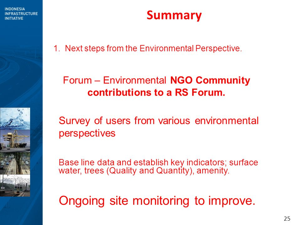 Forum – Environmental NGO Community contributions to a RS Forum.