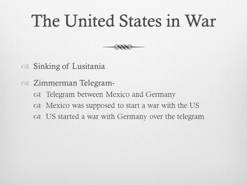 The United States in War