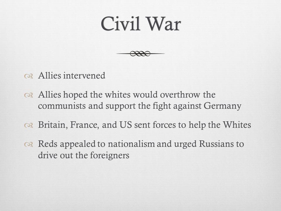 Civil War Allies intervened
