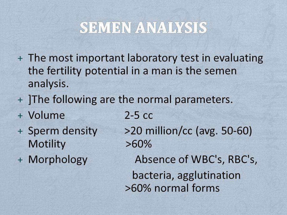Sperm analysis normal semen volume