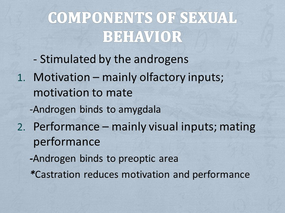 Components of Sexual Behavior