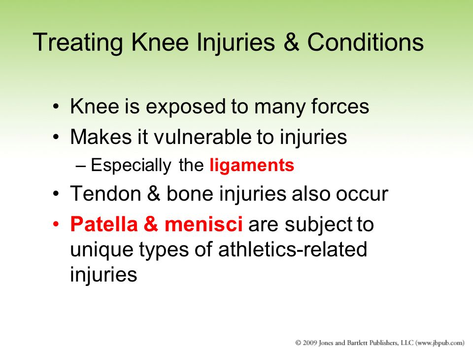 Treating Knee Injuries & Conditions