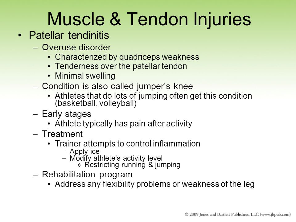 Muscle & Tendon Injuries