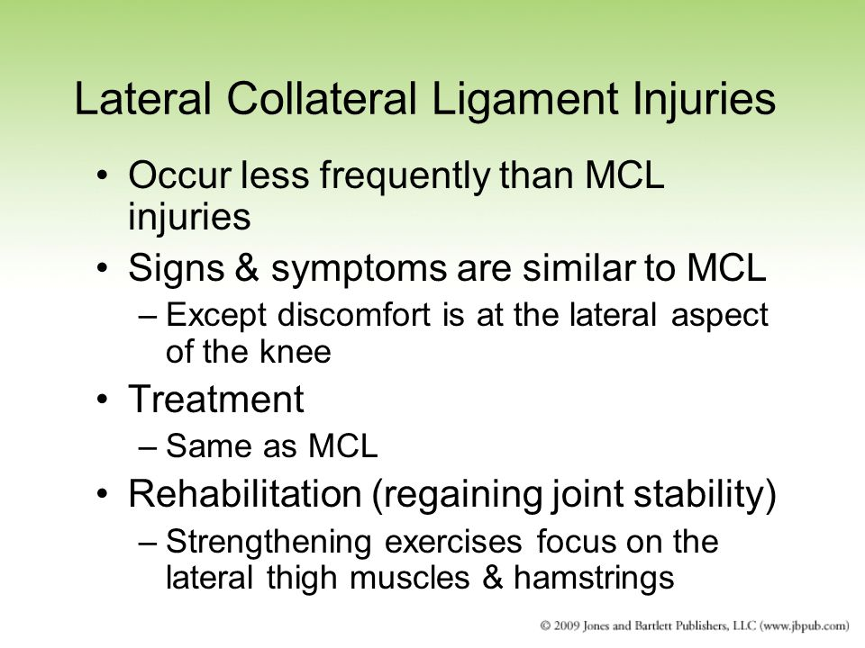 Lateral Collateral Ligament Injuries