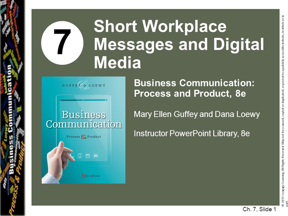 7 Short Workplace Messages and Digital Media Business Communication:
