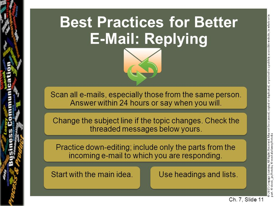 Best Practices for Better E-Mail: Replying