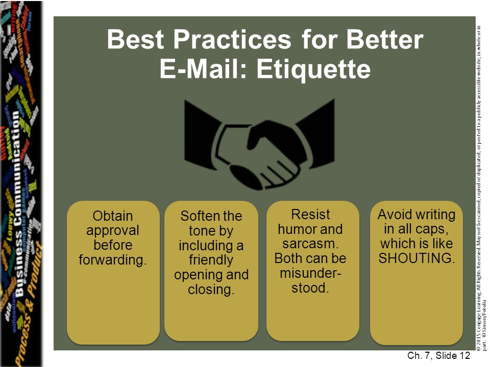 Best Practices for Better E-Mail: Etiquette