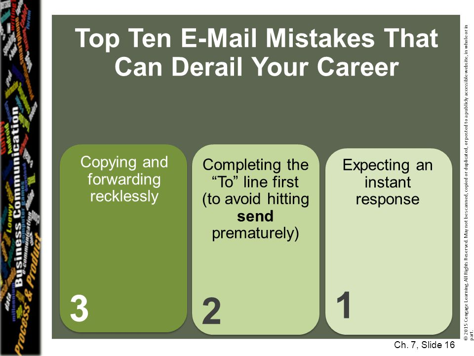 Top Ten E-Mail Mistakes That Can Derail Your Career