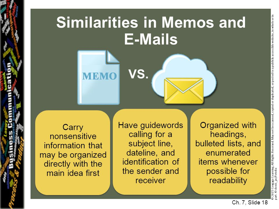 Similarities in Memos and