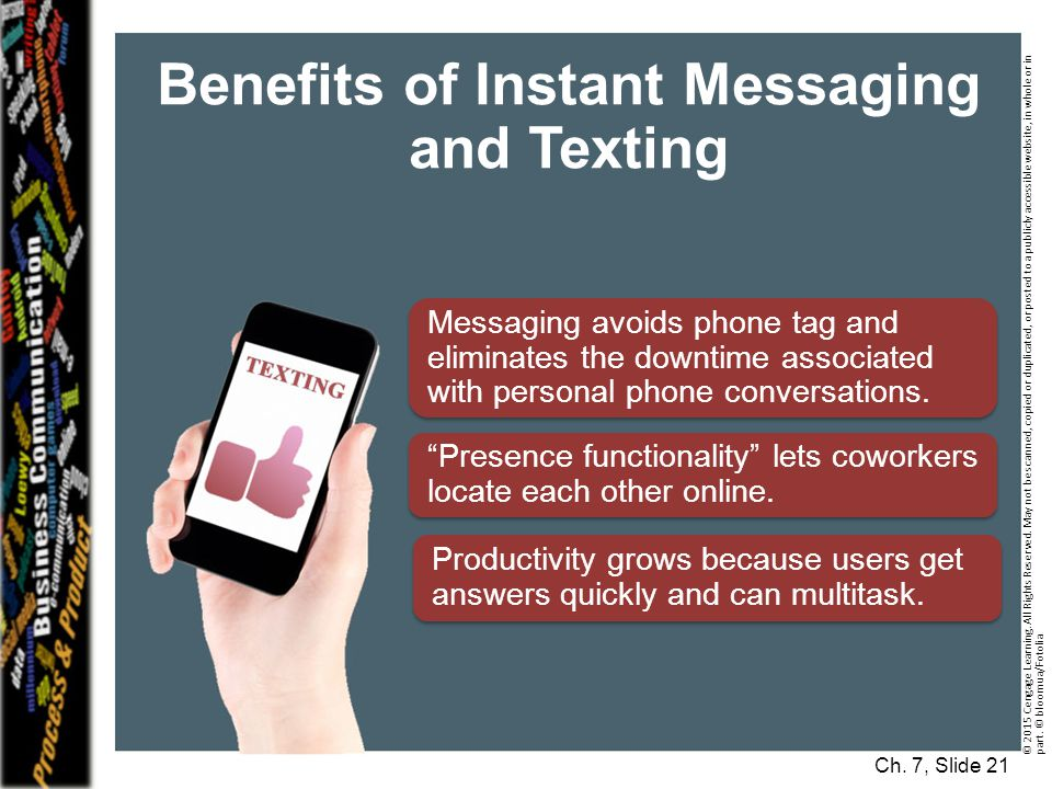 Instant Message Work : Short workplace messages and digital media business