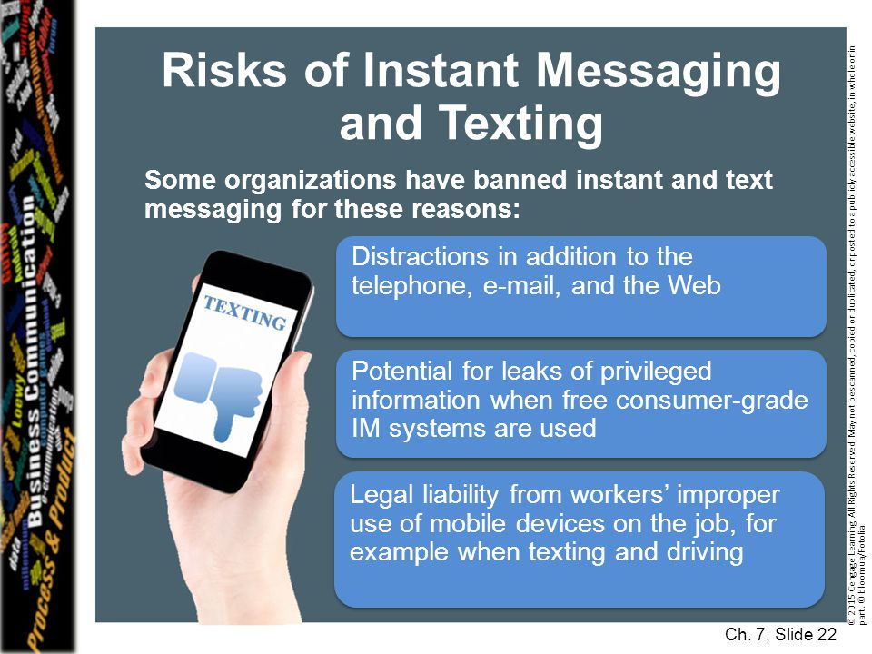 Risks of Instant Messaging and Texting
