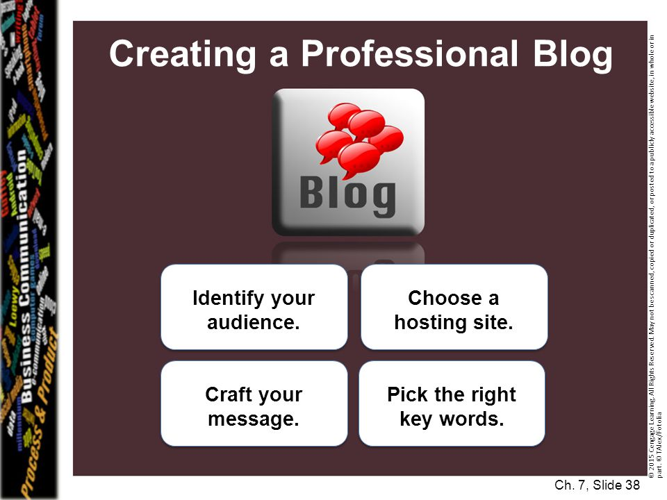 Creating a Professional Blog