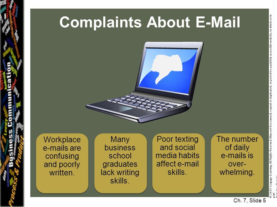 Complaints About E-Mail