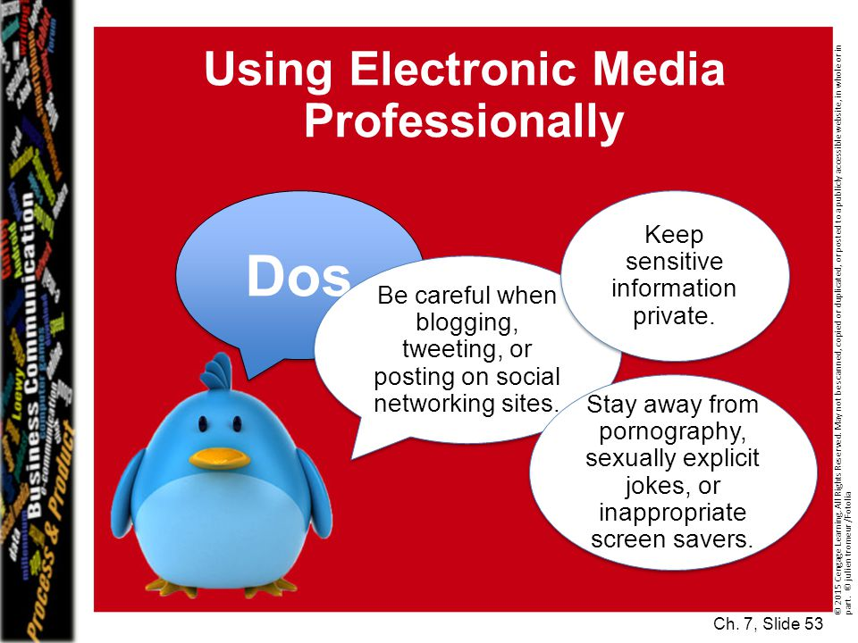 Using Electronic Media Professionally