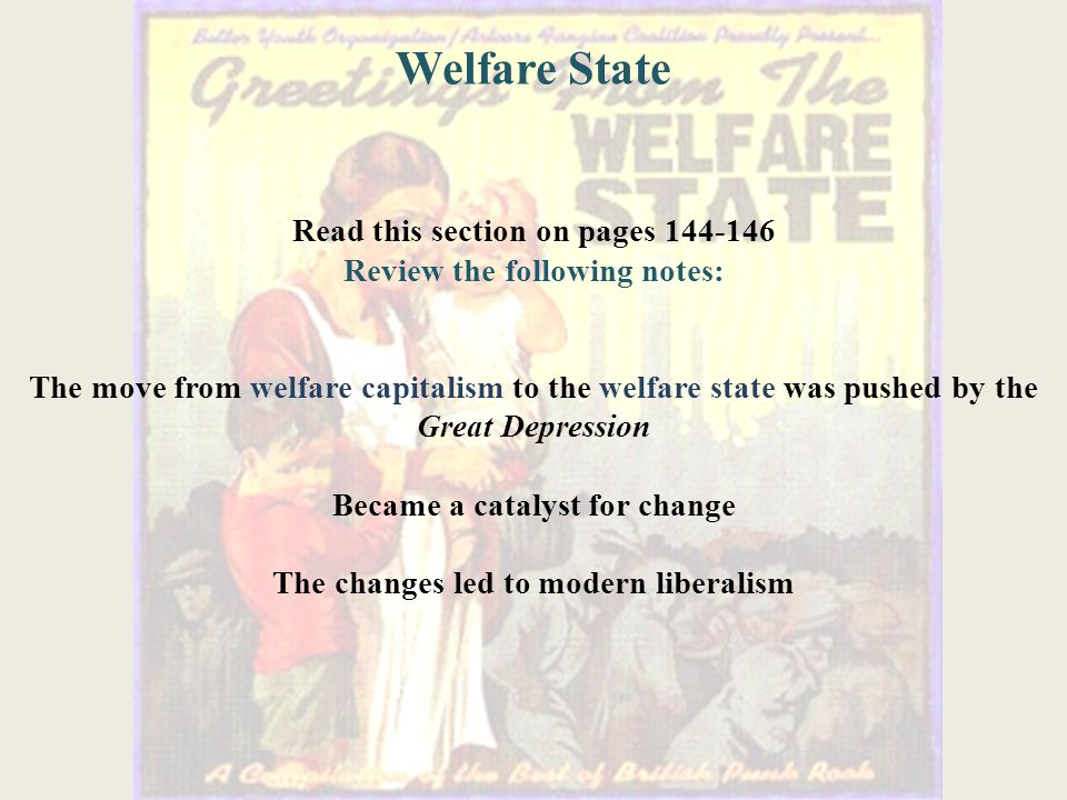 Welfare State Read this section on pages 144-146