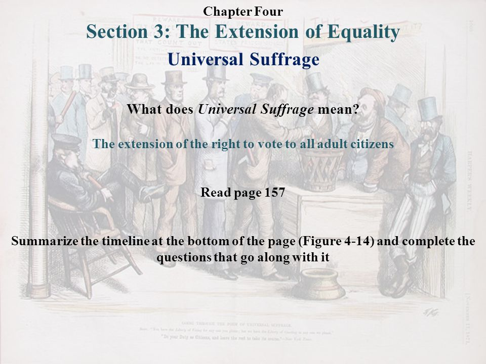 Section 3: The Extension of Equality