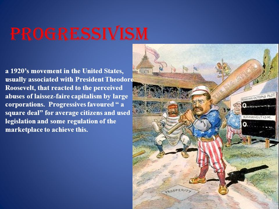 progressivism a 1920's movement in the United States,