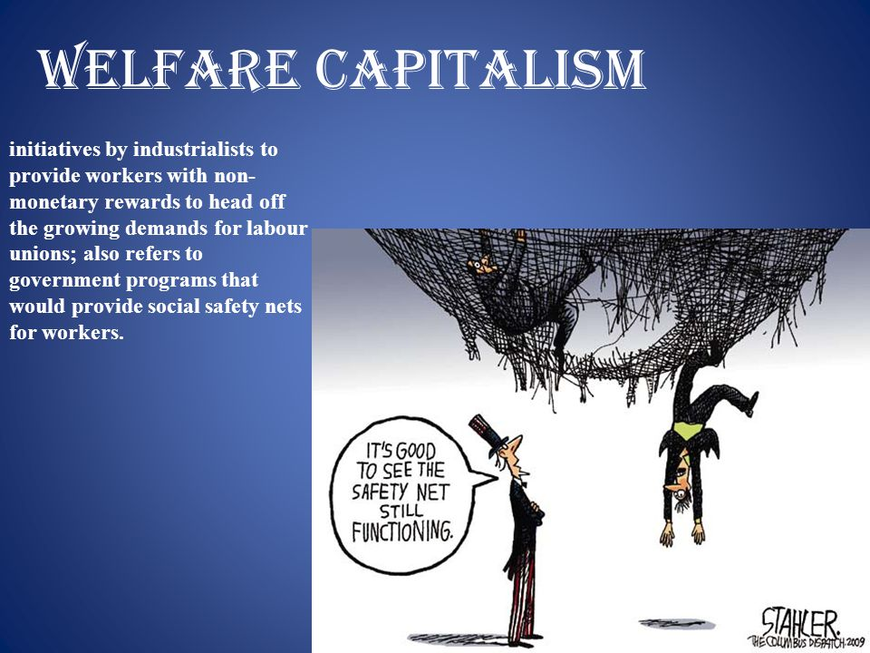 Welfare capitalism initiatives by industrialists to