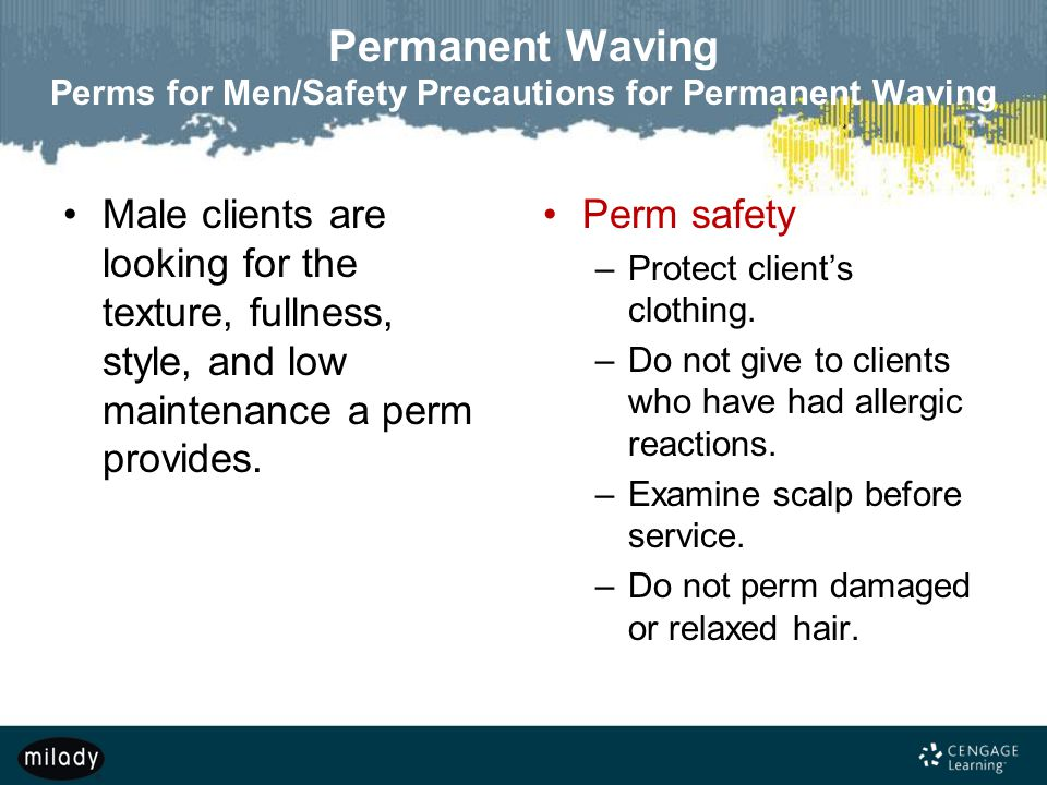 Permanent Waving Perms for Men/Safety Precautions for Permanent Waving