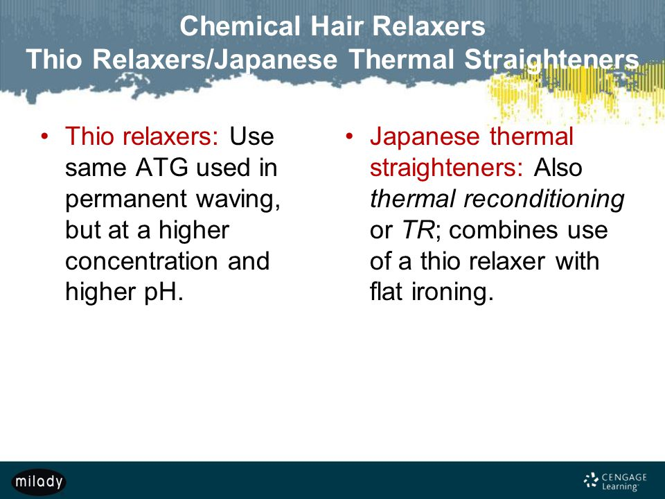Chemical Hair Relaxers Thio Relaxers/Japanese Thermal Straighteners