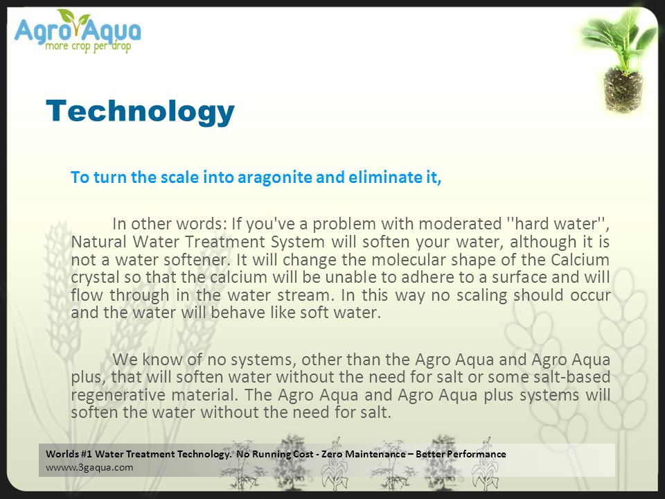 Technology To turn the scale into aragonite and eliminate it,