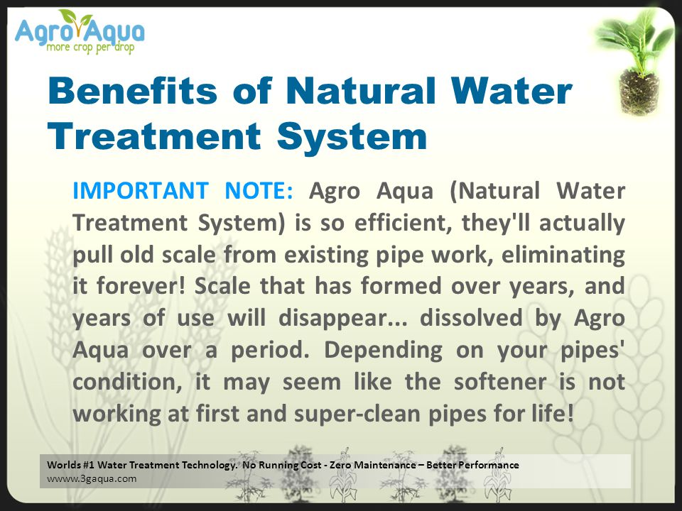 Benefits of Natural Water Treatment System