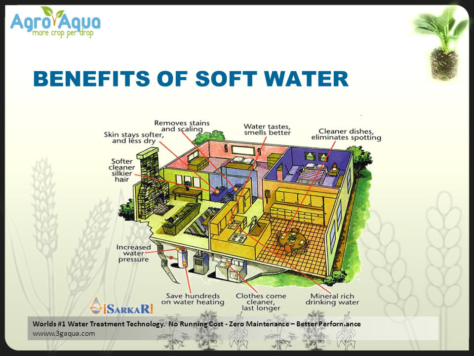 BENEFITS OF SOFT WATER