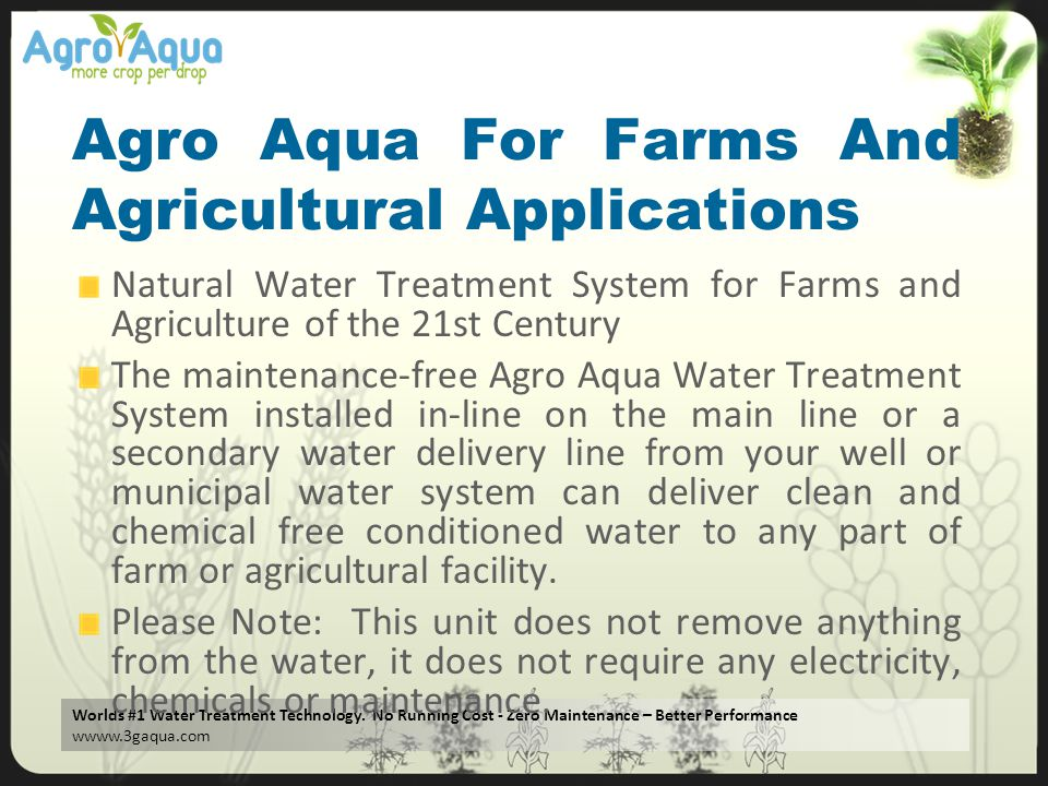 Agro Aqua For Farms And Agricultural Applications