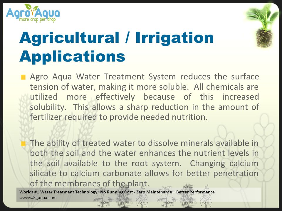 Agricultural / Irrigation Applications