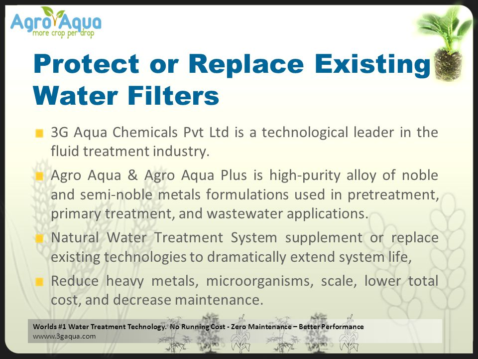 Protect or Replace Existing Water Filters
