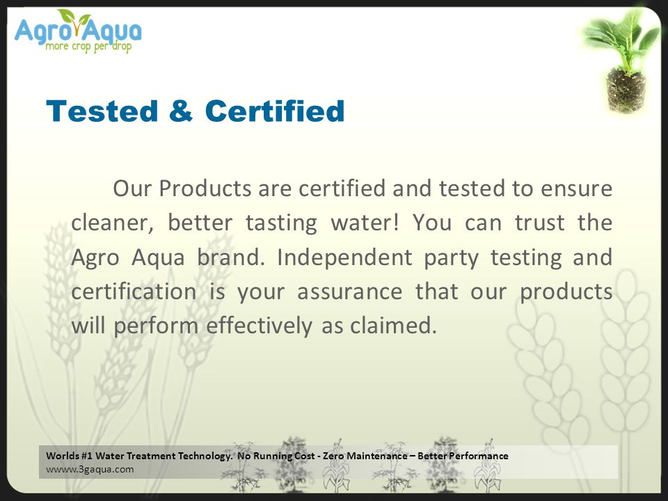Tested & Certified
