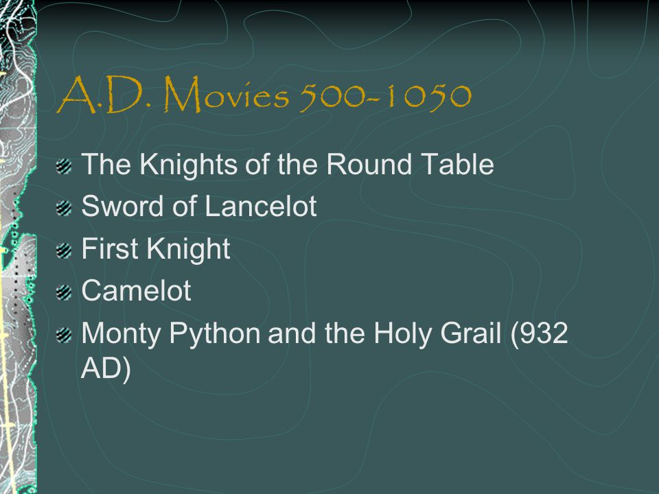 A.D. Movies 500-1050 The Knights of the Round Table Sword of Lancelot