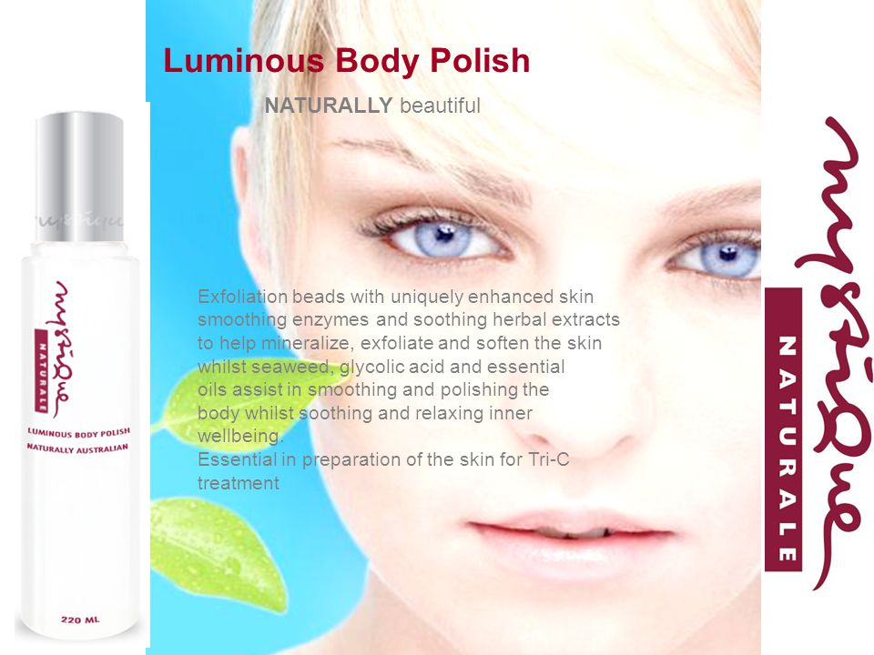 Luminous Body Polish NATURALLY beautiful