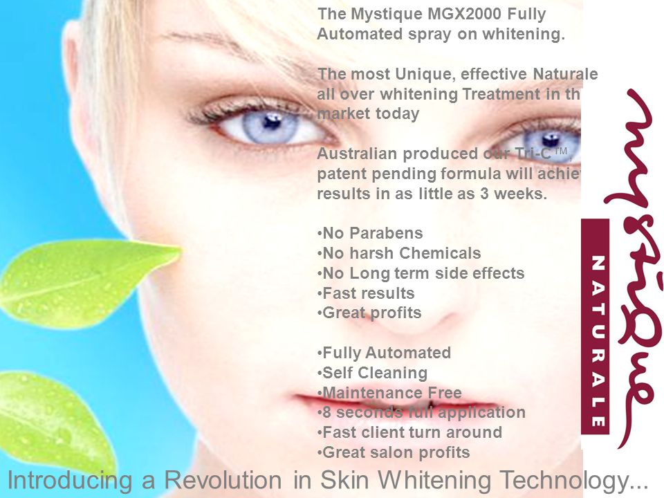 Introducing a Revolution in Skin Whitening Technology...