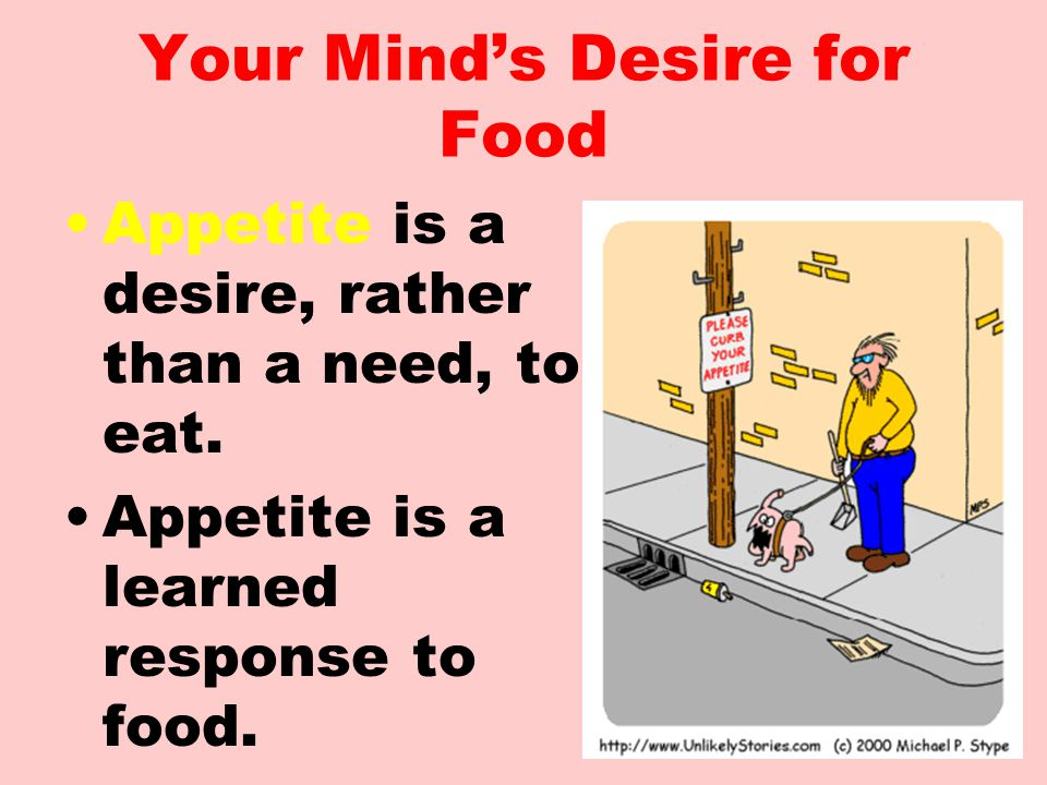 Your Mind's Desire for Food