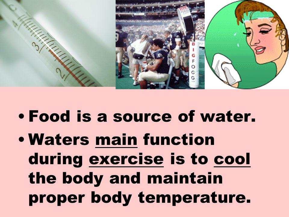 Food is a source of water.