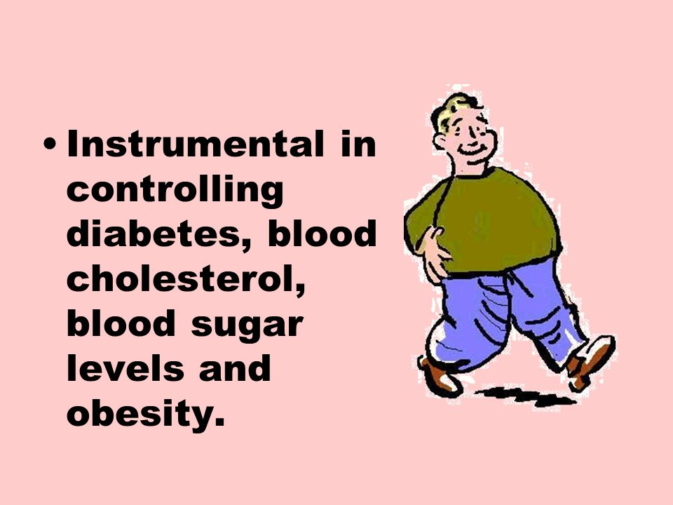 Instrumental in controlling diabetes, blood cholesterol, blood sugar levels and obesity.