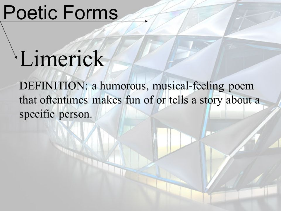Poetic Forms Limerick.