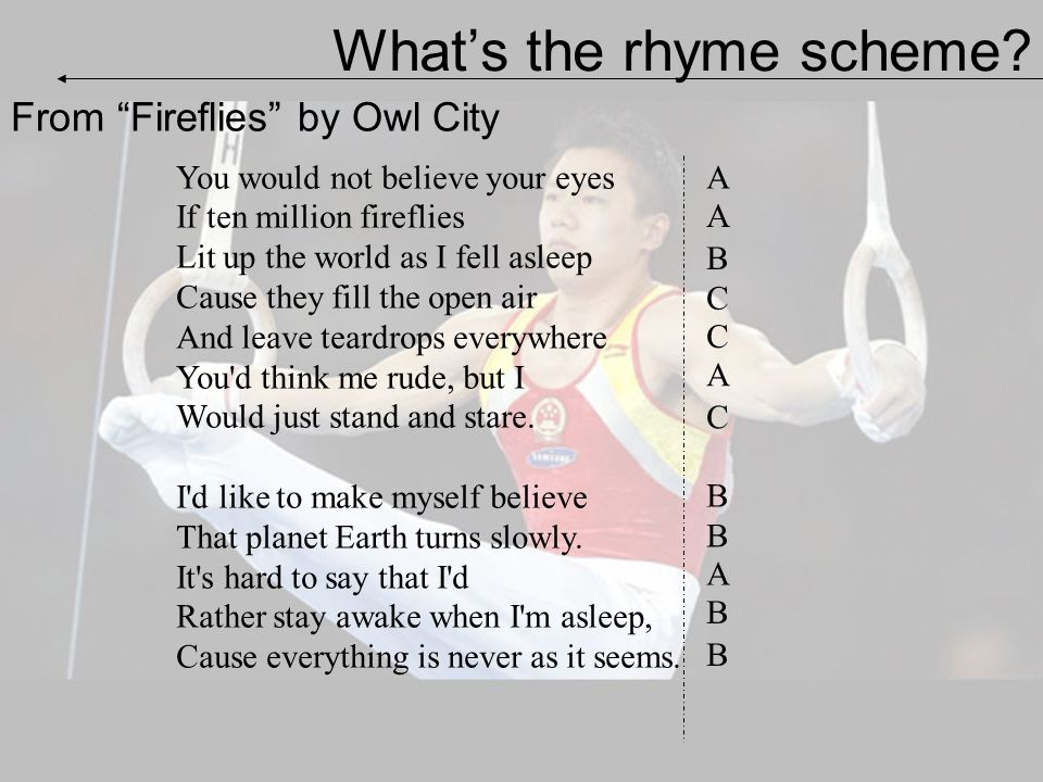What's the rhyme scheme