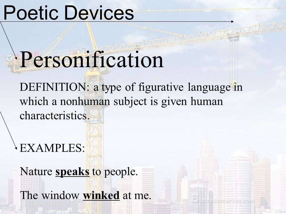 Personification Poetic Devices